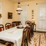 The Garner Dining room can seat about 10 guests.