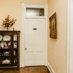 The Garner Dining Room has two cabinets filled with fine dinnerware and tools.
